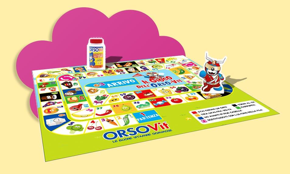 Gioco pedine vitamine educazione alimentare bambini