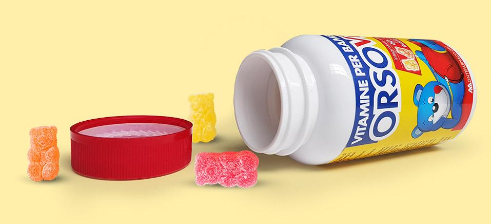 Vitamine gommose aiutano bambini crescere modo sano Orsovit