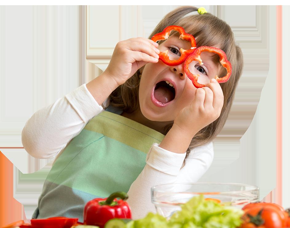 Integratori vitaminici bambina verdure