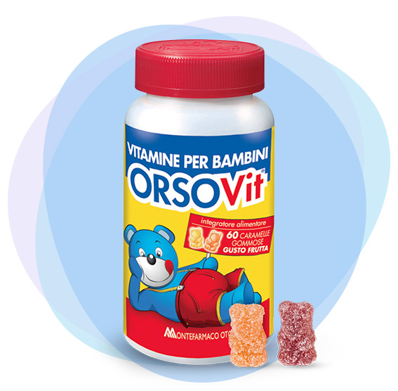 Integratori vitaminici bambini Orsovit vitamine gommose