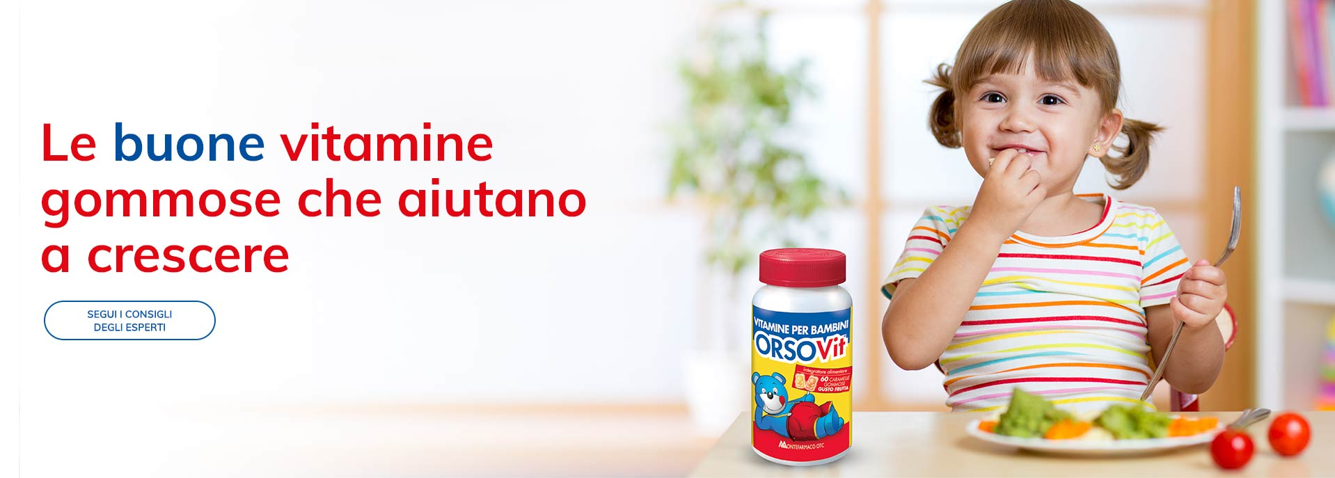 Vitamine gommose aiutano crescere salute bambini Orsovit
