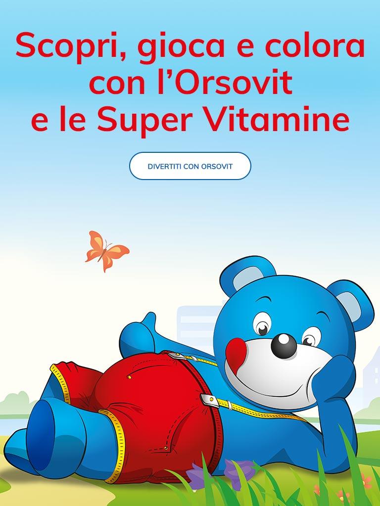 Spiegare vitamine bambini gioco Orsovit
