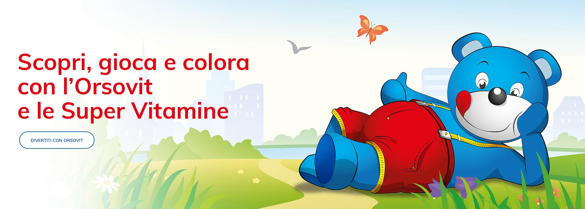 Spiegare vitamine bambini gioco personaggi Orsovit